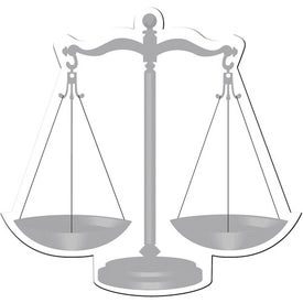 Personalized Scales of Justice Flexible Magnet