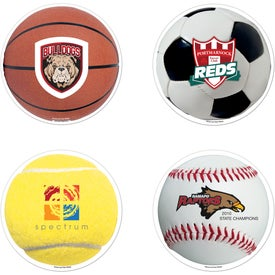 Branded Sports Ball Car Magnet
