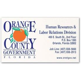 Customized Standard Business Card Magnet