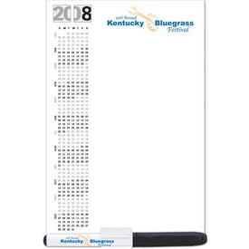 """5.25"""" x 8"""" Standard Dry Erase Magnet with Marker Printed with Your Logo"""