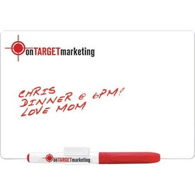 """5.25"""" x 8"""" Standard Dry Erase Magnet with Marker for Advertising"""