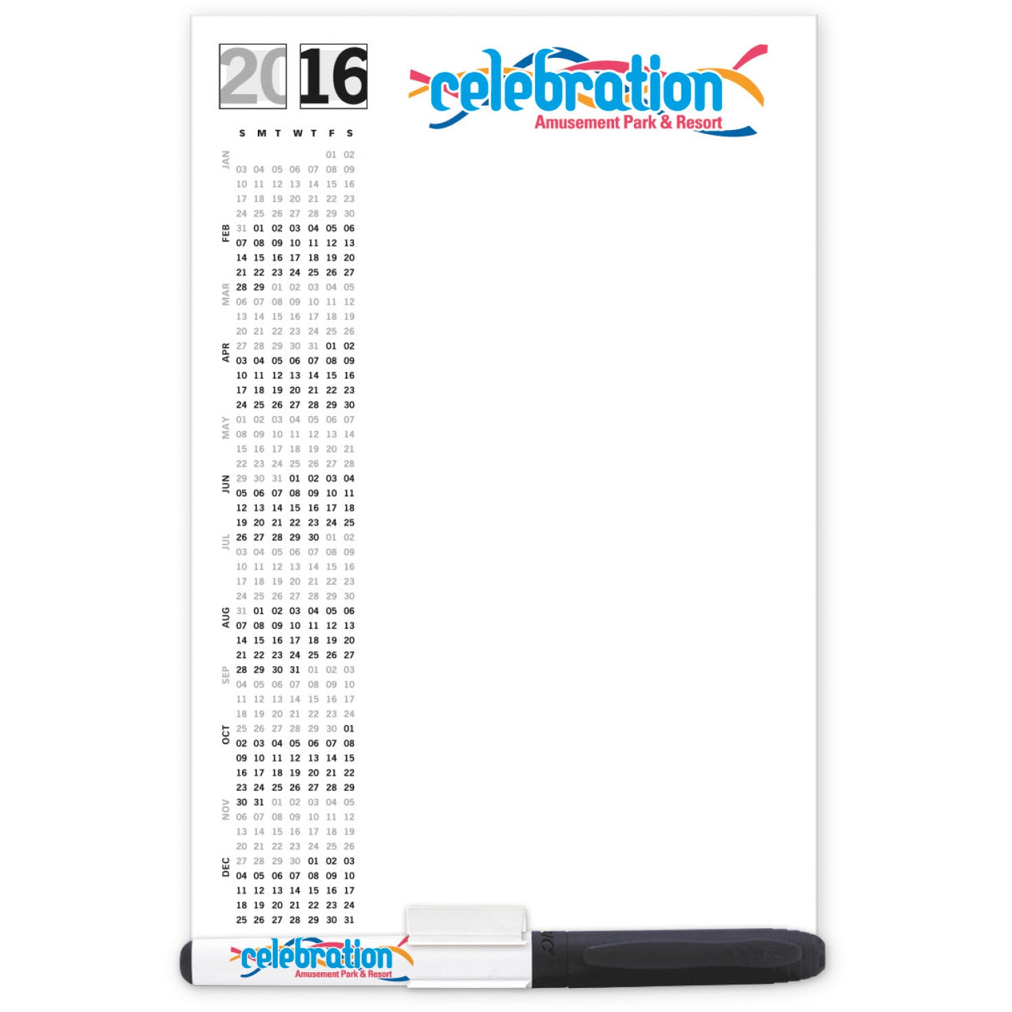 Dry Erase Magnet with Marker and Clip (.020 Thickness)