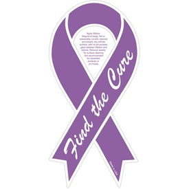 "Purple Find the Cure Ribbon Magnet (0.03"" Thick)"