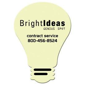 Medium Stock Shape Magnet (Light Bulb - 30 Mil)