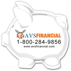 "Medium Piggy Bank Magnet (0.03"" Thick)"