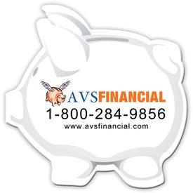 Medium Stock Shape Magnet (Piggy Bank - 30 Mil)