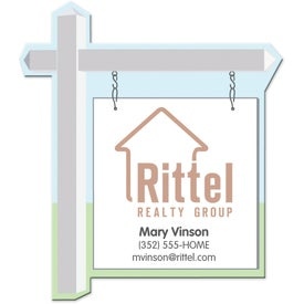 "Medium Real Estate Sign Magnet (0.03"" Thick)"