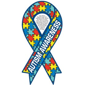 "Autism Awareness Ribbon Magnet (0.03"" Thick)"