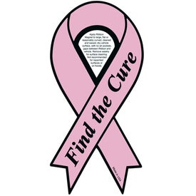 Pink Find the Cure Ribbon Magnet (.030 Thickness)