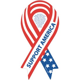 "Support America Ribbon Magnet (0.03"" Thick)"