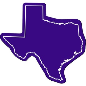 Texas Flexible Magnet Imprinted with Your Logo