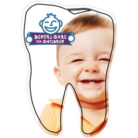 "Tooth Magnet (0.02"" Thick, White)"