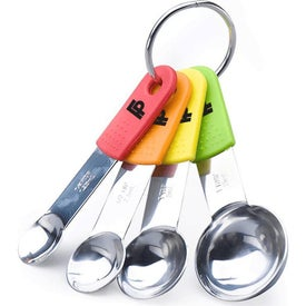 Stainless Steel Measuring Spoons with Silicone Handle