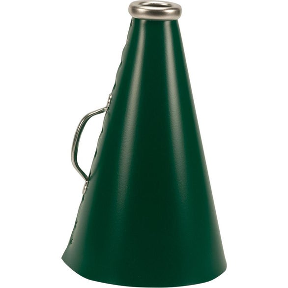 Dark Green Riveted Megaphone with Handle