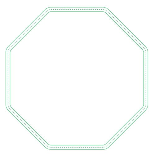 Fabric Surface Octagon Mouse Pad
