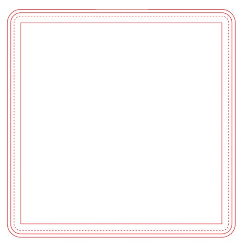 "Fabric Surface Square Mouse Pad (1/4"")"