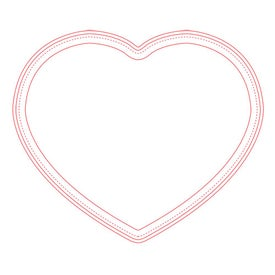 """Firm Surface Heart Mouse Pad (1/16"""")"""