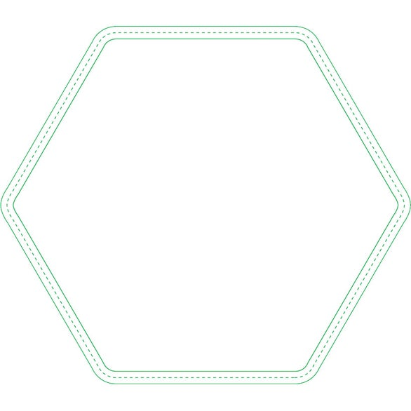 Firm Surface Hexagon Mouse Pad