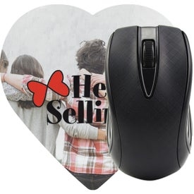 Heart Shaped Computer Mouse Pad