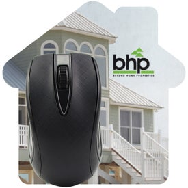 "House Shaped Computer Mouse Pad (5"" x 5"" x 0.0625"")"