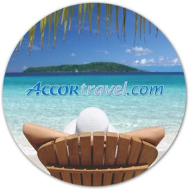 Ultra-Thin Repositionable Circle Desktop Sticker for Advertising