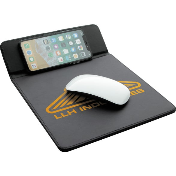 Black Wireless Charging Mouse Pad
