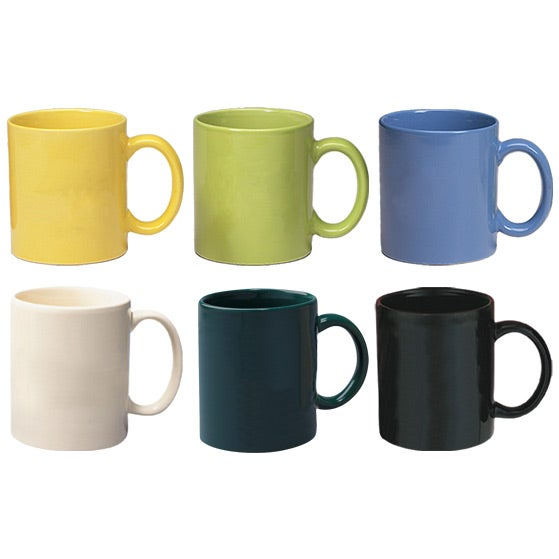 Promotional 11 Oz Colors Colored Stoneware Mugs With