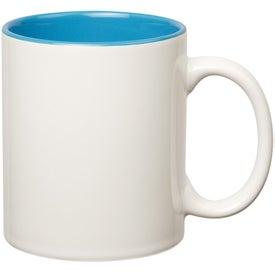 Colored Stoneware Mug for Advertising