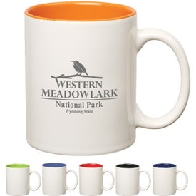 Colored Stoneware Mug (11 Oz., Two-Tone)