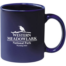 Colored Stoneware Mug (11 Oz., Cobalt)