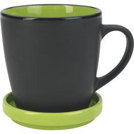 Two-Tone 2 Piece Coaster Mug Imprinted with Your Logo