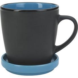 Two-Tone 2 Piece Coaster Mug for Marketing