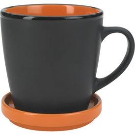 Two-Tone 2 Piece Coaster Mug Printed with Your Logo