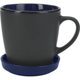 Two-Tone 2 Piece Coaster Mug for Your Church