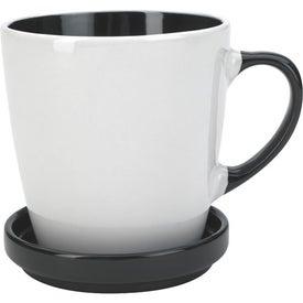 Logo Two-Tone 2 Piece Coaster Mug