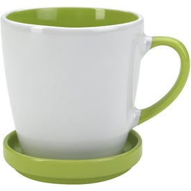 Custom Two-Tone 2 Piece Coaster Mug