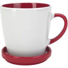 Two-Tone 2 Piece Coaster Mug for Advertising