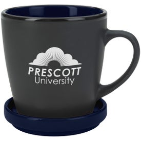 Two-Tone 2 Piece Coaster Mug Imprinted with Your Logo
