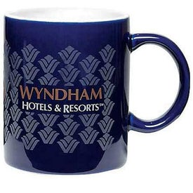 Two Tone Mugs (11 Oz., 2 Locations, Cobalt/White)