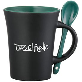 Agave Ceramic Mug with Spoon for Advertising