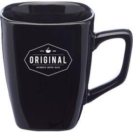 Ares Glossy Ceramic Latte Mug (12 Oz., Colors)