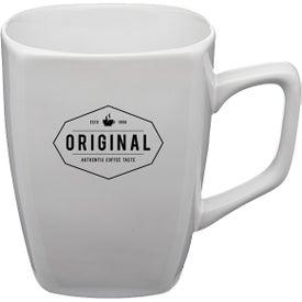 Ares Glossy Ceramic Latte Mug (12 Oz., White)