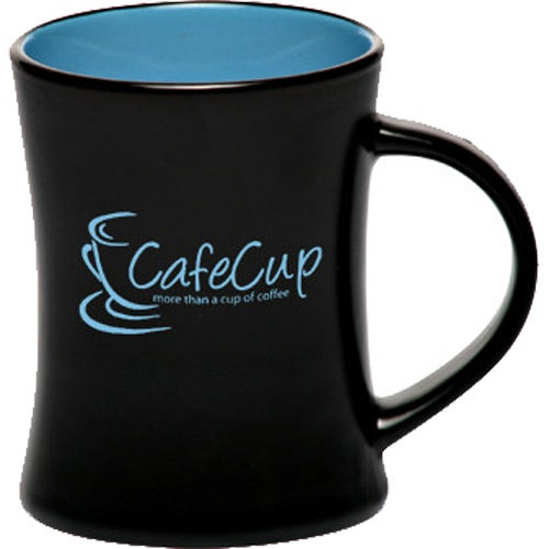 Black / Blue Aztec Diner Flare Coffee Mug