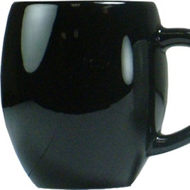 Barrel Coffee Mug (19 Oz., Black)
