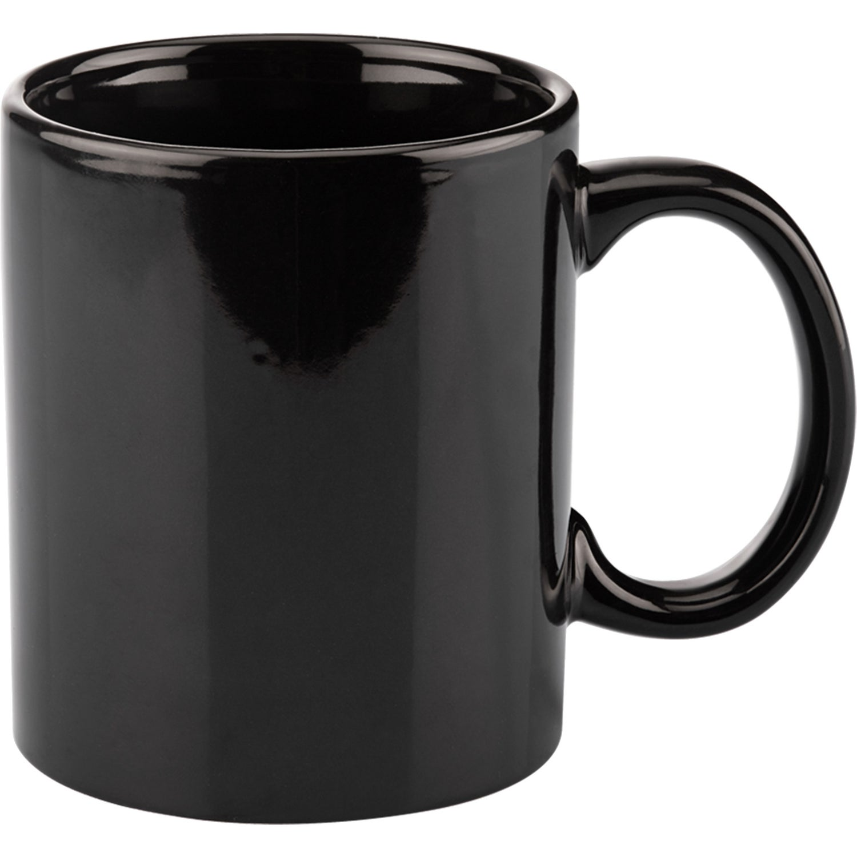 Basic C Handle Ceramic Mug (11 Oz., Colors)
