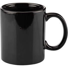 Basic C Handle Ceramic Mug (11 Oz., Colors)
