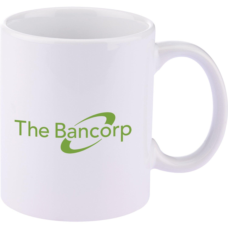 Basic C Handle Ceramic Mug (11 Oz., White)