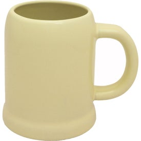 Beige Ceramic Beer Mug (28 Oz.)