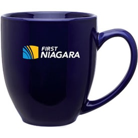 Glossy Bistro Mug Imprinted with Your Logo