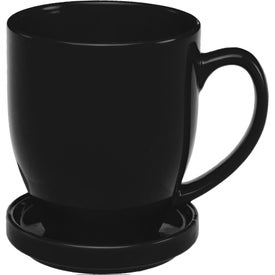 Bistro Coffee Mug with Coaster (16 Oz., Colors)